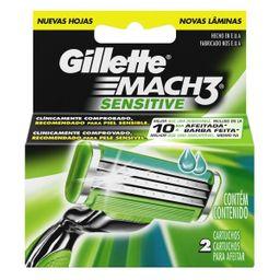 Gillette Mach 3 Sensitive Cartuchos para afeitar