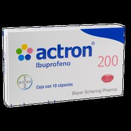 Actron 200 mg 10 Cápsulas