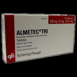 Almetec Tri 14 Tabletas 20 mg /5 mg/12.5 mg