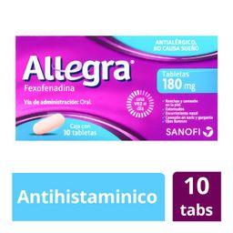 Allegra 180 Mg Antihistaminico 10 Comprimidos