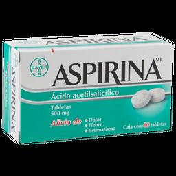 Aspirina Adultos 40 Tabletas 500 mg