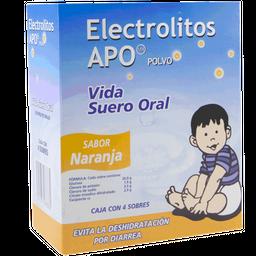 Electrolitos Suero Oral en Polvo Sabor Naranja