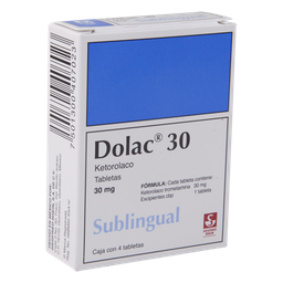 Dolac Sublingual 4 Tabletas
