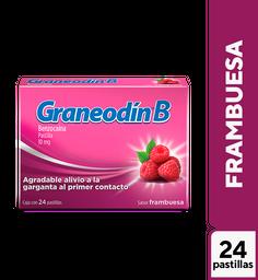 Graneodín B frambuesa 10 mg 24 pastillas
