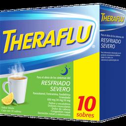 Theraflu Noche sabor Limón 10 Sobres (650 mg/20 mg/10 mg)
