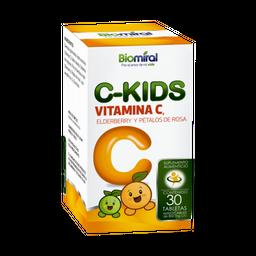 Biomiral C-Kids VITAMINA C, ELDERBERRY Y PETALOS DE ROSA