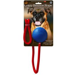 4BF Juguete de Hule Crazy Bounce Rope Azul para Perro Grande