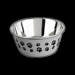 Harmony Tazón para Perro Color Gris con Diseño de Patitas
