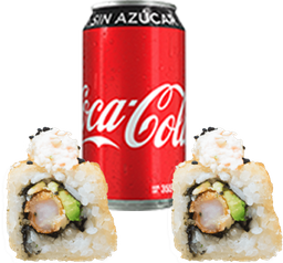 Envío Gratis:  2x1 Quimera Roll  +  Coca-Cola Sin Azúcar