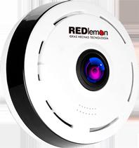 Cámara WiFi IP 360° Lente Fish Eye Panorámica Monitoreo en Vivo