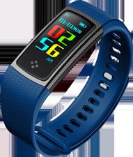 Smartband tipo Fitband con Monitor de Ritmo Cardiaco S9 Azul