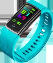 Smartband tipo Fitband con Monitor de Ritmo Cardiaco S9 Aqua