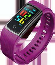 Smartband tipo Fitband con Monitor de Ritmo Cardiaco S9 Morado
