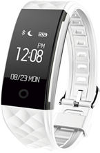 Smartwatch tipo Fitband con Monitor de Ritmo Cardiaco Blanco