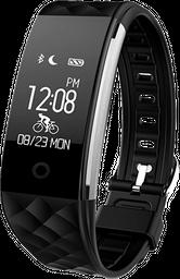 Smartwatch tipo Fitband con Monitor de Ritmo Cardiaco Negro