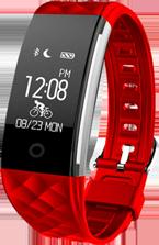 Smartwatch tipo Fitband con Monitor de Ritmo Cardiaco Rojo