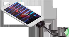 Sintonizador de TV para Smartphone y Tablet Android con Antena
