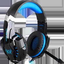 Audífonos Gamer Sonido HD 360° Micrófono LED G9000 Azul