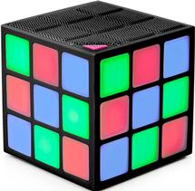 Bocina Bluetooth en Forma de Cubo Rubik con LEDs de Colores