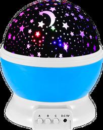Lámpara Proyector Estrellas Giratorias para Niños y Bebés Azul