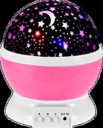 Lámpara Proyector Estrellas Giratorias para Niños y Bebés Rosa