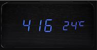 Reloj Despertador de Madera Minimalista Digital