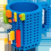 Taza para Café o Té de Bloques Armables tipo Lego Azul