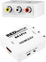 Convertidor HDMI A RCA 1080P para Audio y Video