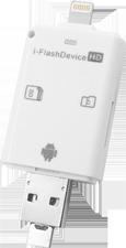 Memoria Externa Portátil iFlash Respaldo de iPhone con MicroSD