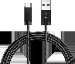 Cable USB-C de 3 Metros, de Nylon Resistente, Carga Rápida