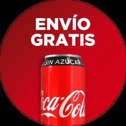 Envío Gratis: 3 Tacos de Surtida + Coca-Cola Sin Azúcar