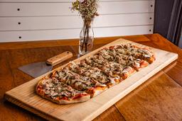 Pizza grande de Salchicha con champiñones