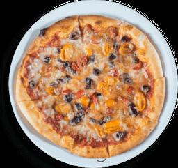 Pizza de Tomate y Aceitunas