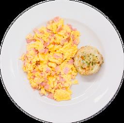 Desayuno de Huevos Con Jamón