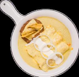 Enchiladas Suizas + Sopa Especial Vips + 2 Refrescos