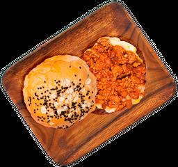 Hamburguesa Chili con Carne  + Papas