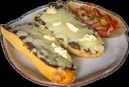 Molletes con queso de cabra