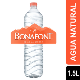 Agua Natural Bonafont 1.5 L