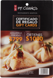 Certificado De $1000 Restaurante PF Chang'S 1 U