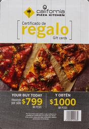 Certificado De $1000 Restaurante Cpk