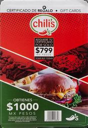 Certificado De $1000 Restaurante Chili S