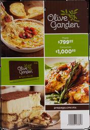 Certificado De $1000 Restaurante Olive Garden