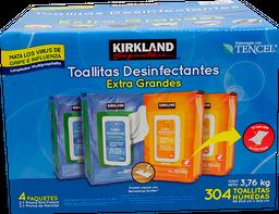 Toallitas Desinfectantes Kirkland Signature Extra Grandes 304 U