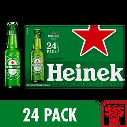 Cerveza Heineken Botella 355 mL x 24