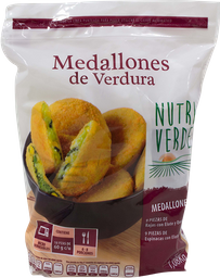 Comida Congelada Nutri Verde Medallones de Verdura 1.08 Kg