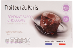 Fondant De Chocolate Traiteur De Paris 1 Kg