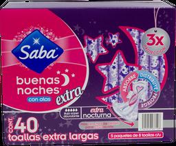 Toalla Femenina Saba Con Alas Buenas Noches 40 U