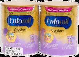 Fórmula Láctea Enfamil Confort 1ra Etapa 800 g x 2