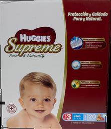Pañal Huggies Supreme Etapa 3 Niño 120 U