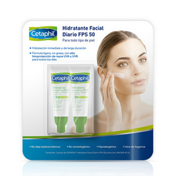 Crema Facial Cetaphil Fps 50 de 50 mL x 2